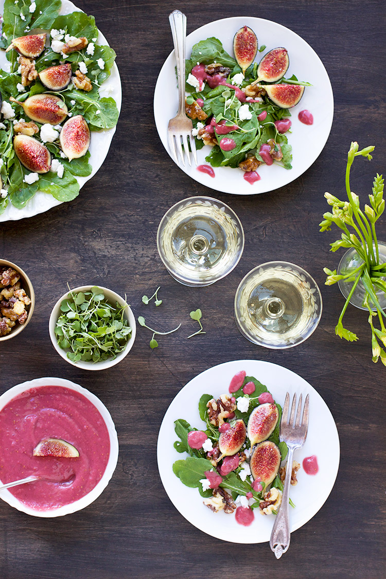 Fig-Arugula-Salad-with-Fig-Feta-Vinaigrette---Vegetarian