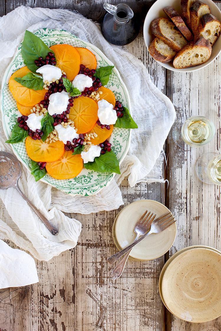 Fuyu-Caprese-Salad