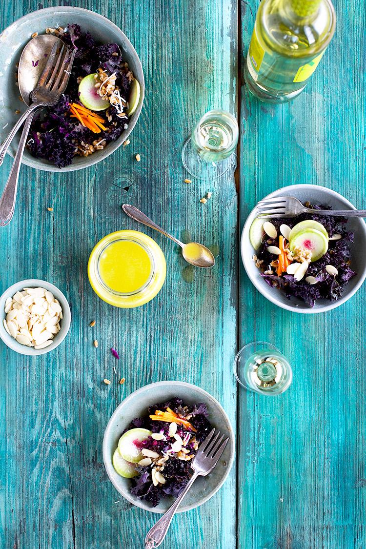Farro-Purple-Kale-Salad