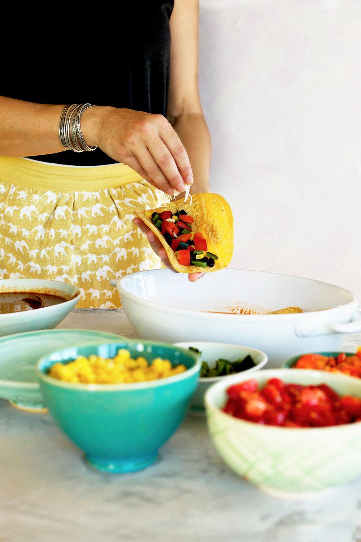 how to make white cheese enchilada sauce