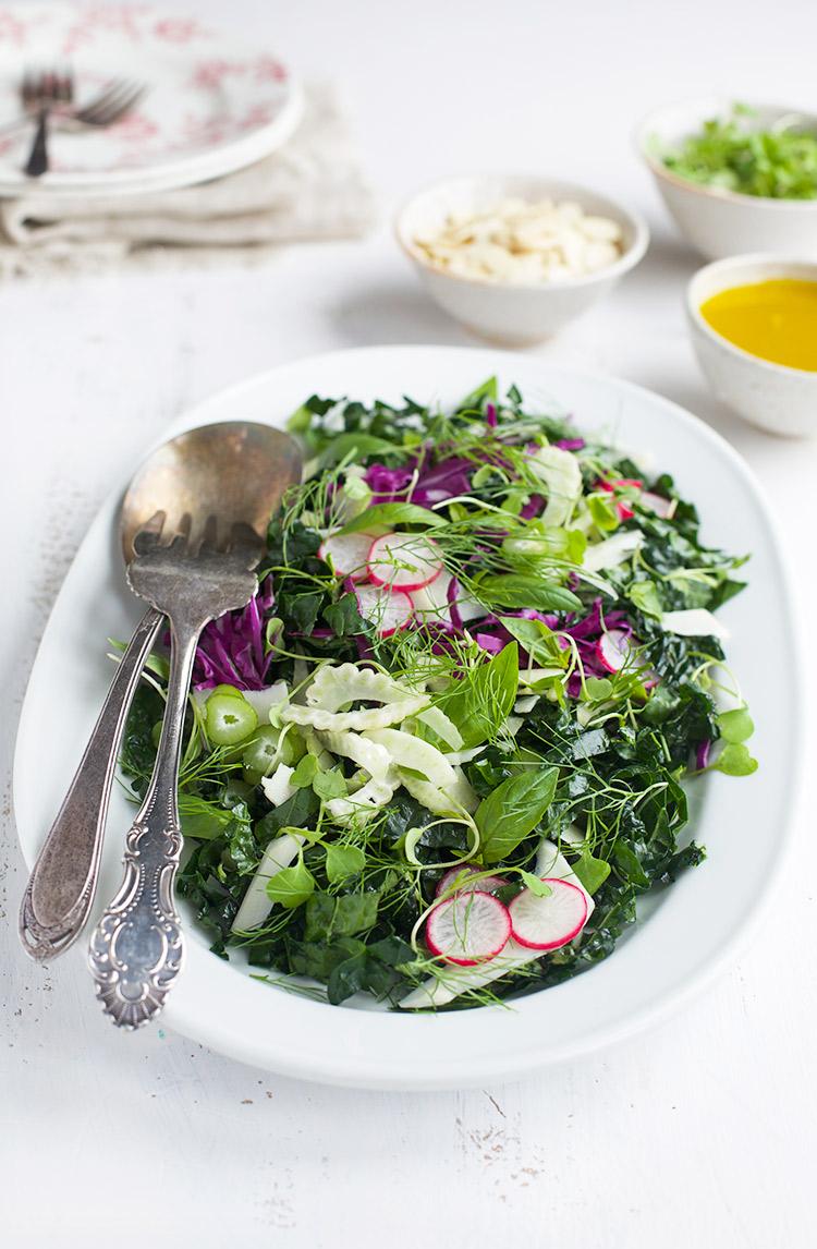 Kale Fennel Basil Salad