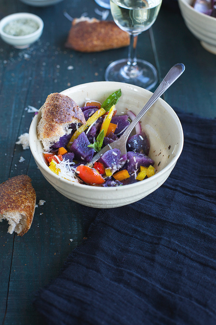 Italian Style Purple Potato Salad