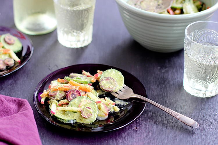 Cucumber-Salad-with-Chive-Cashew-Pesto-