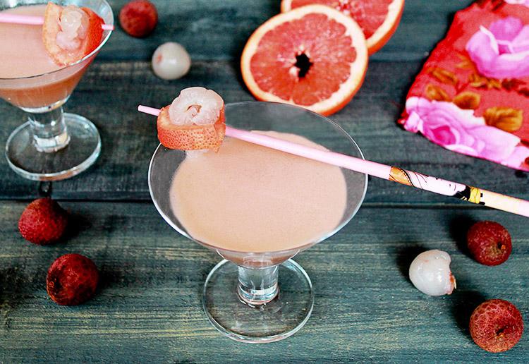 Pink Lychee Martini