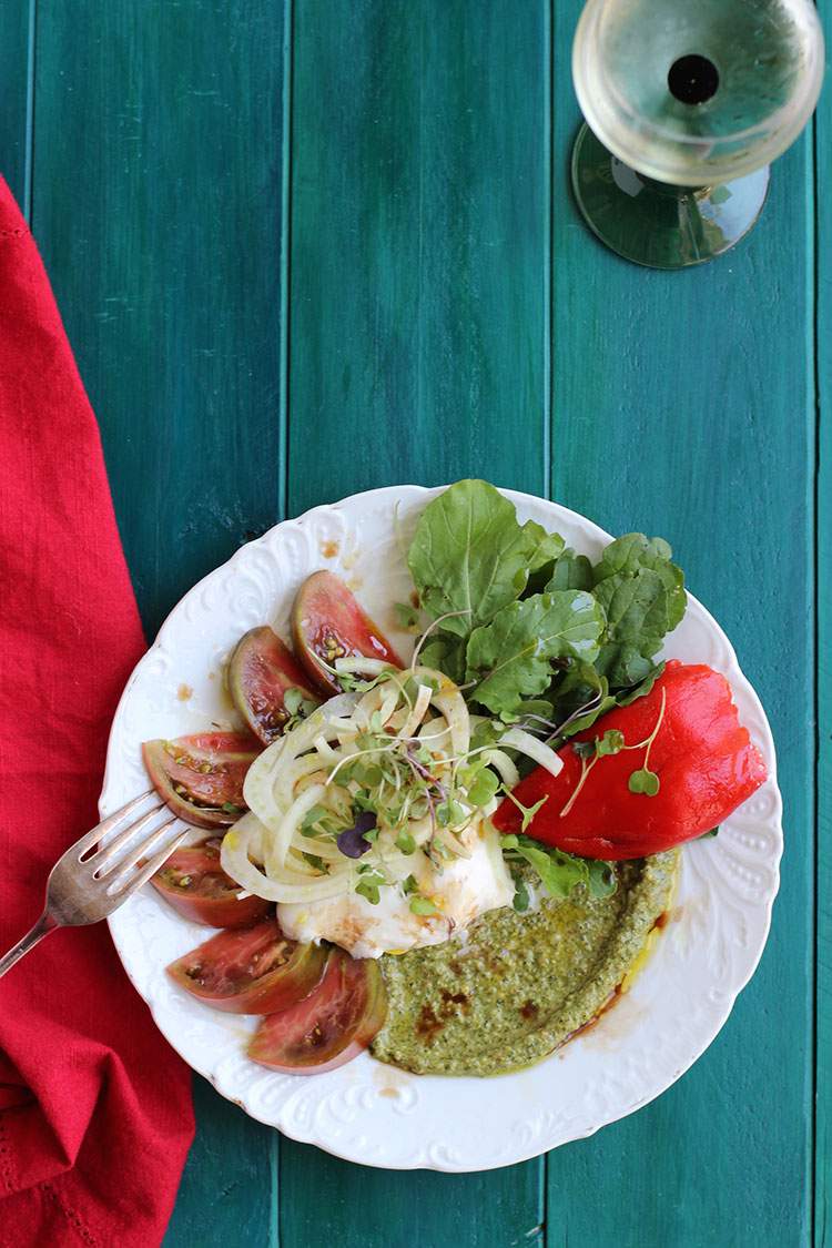 Arugula-Tomato-Burrata-Salad