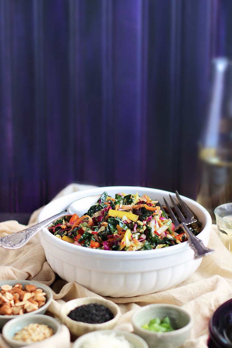 Kale-Sesame-Mandarin-Tahini-Salad