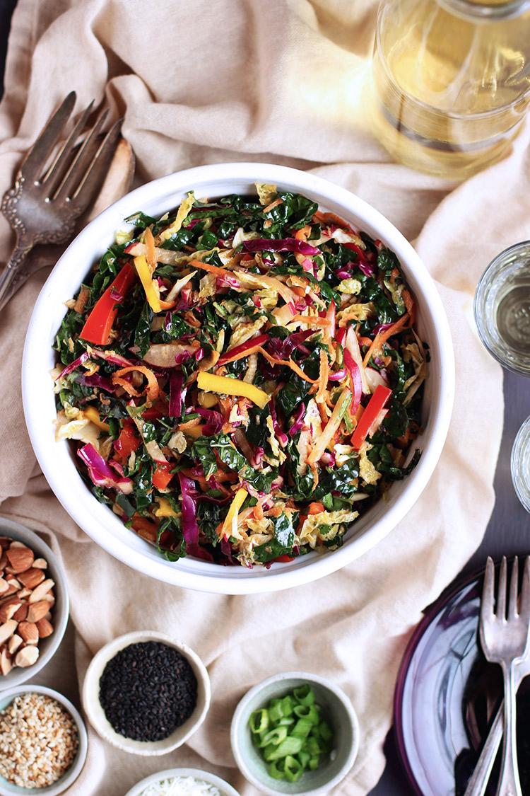 Kale-Sesame-Tahini-Salad