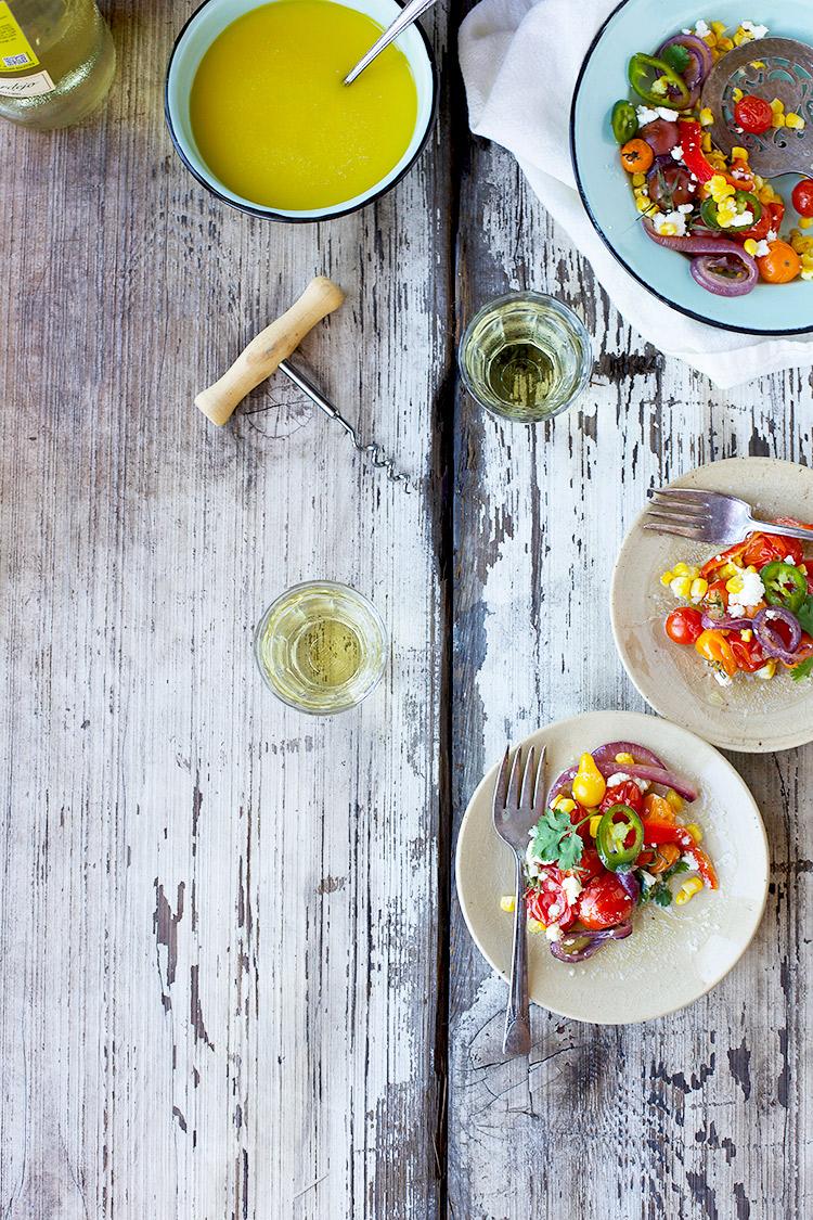 Roasted-Vegetable Salad with-a-Feta-Vinaigrette
