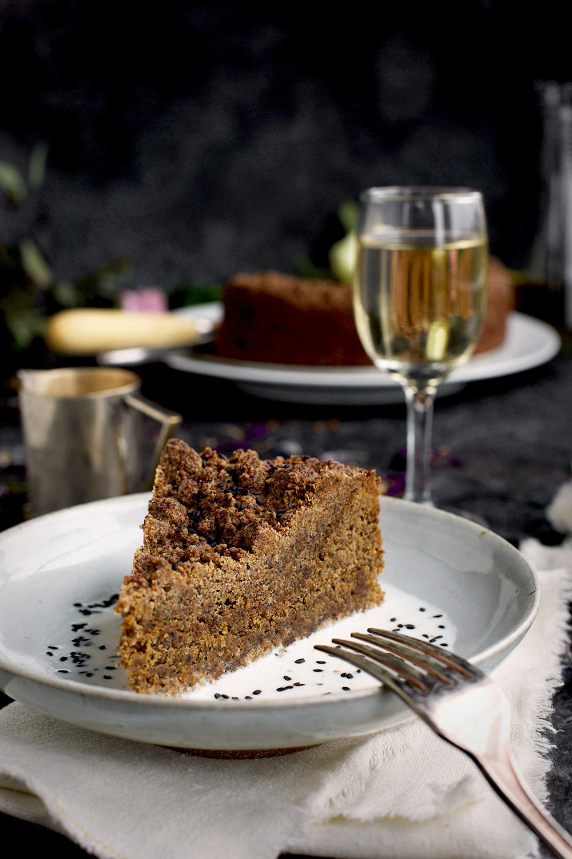 Black Sesame Crumb Cake