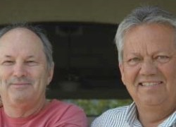Harold McClarty and Mike Jensen, cofounders of HMC Farms