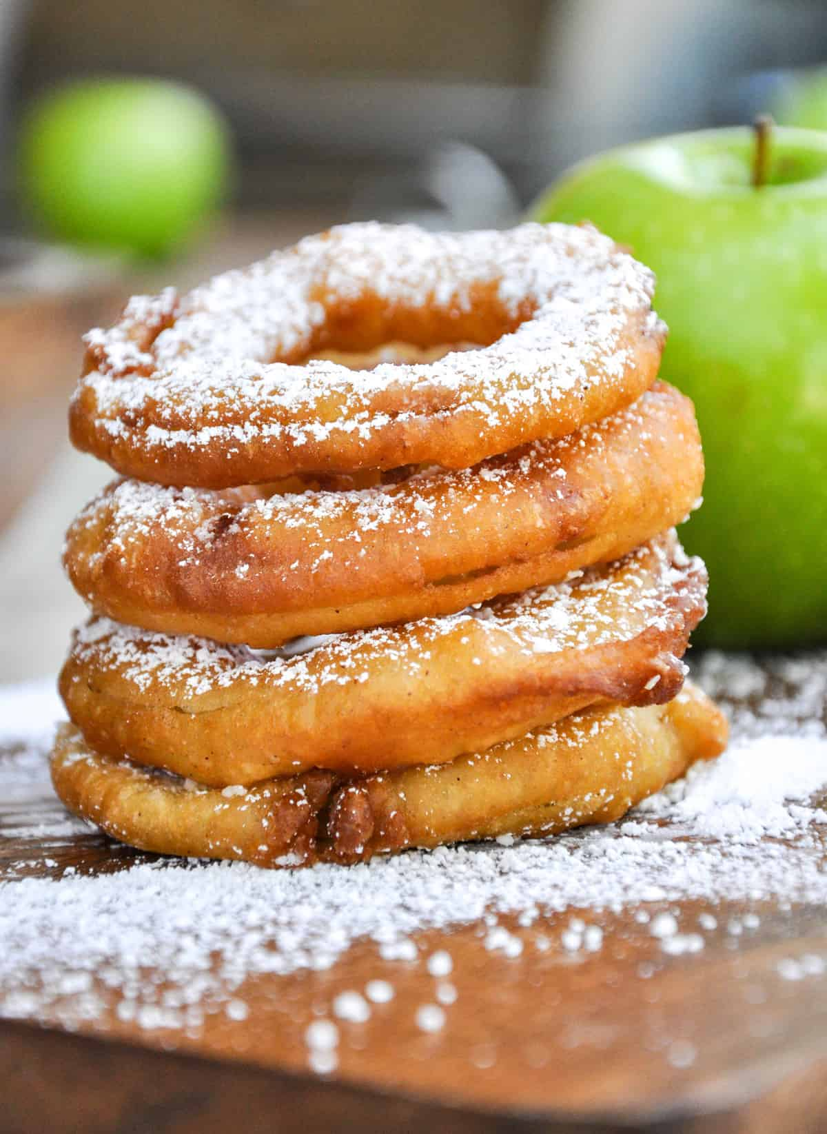 Noble Fried Apple Rings Dusted Powdered Like An Apple Party Inyour Mouth Fried Apple Rings California Grown Fried Apples Recipes Paula Deen Luck S Fried Apples Recipes nice food Fried Apples Recipe