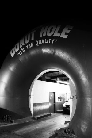 donut hole black and white