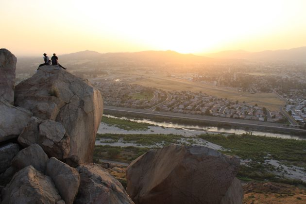 Sunset from Mt Rubidoux