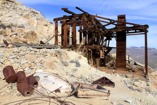 abandoned refinery in death valley