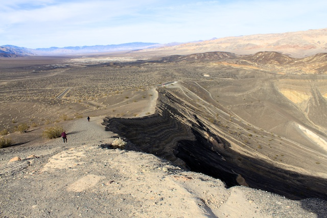 The rim of Ubehebe Crater