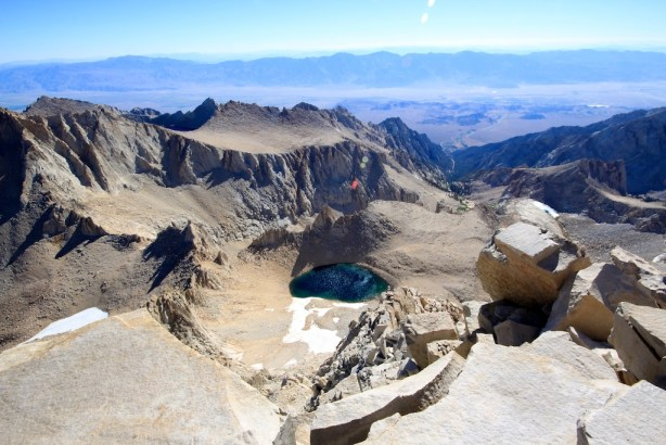 View from Mt Whitney Summit