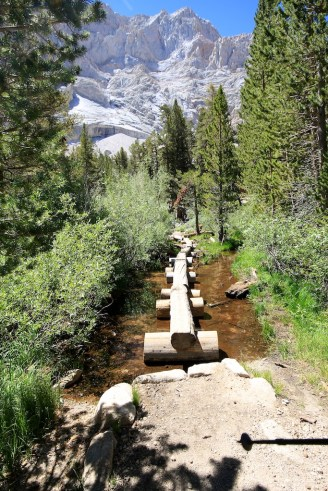 Water crossing on Mt Whitney