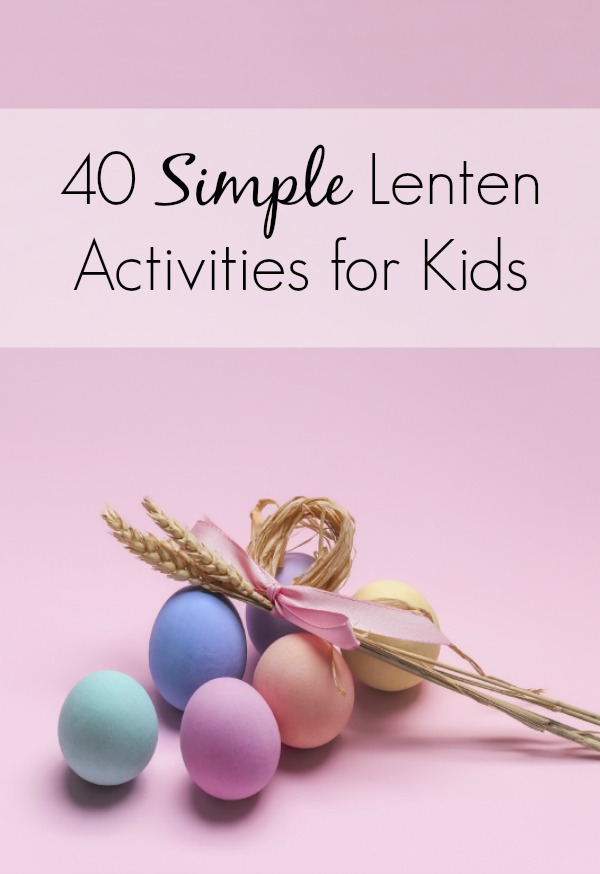 Before you start searching for Easter basket ideas, check out my list of 40 simple Lenten activities for kids. They are so simple you can do one for each day of the season. 15 & 39 - such easy outings!