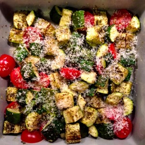 Warm Zucchini and Tomato Salad with Za'Atar