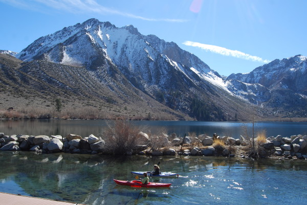 Mono county priming for trout opener for Convict lake fishing