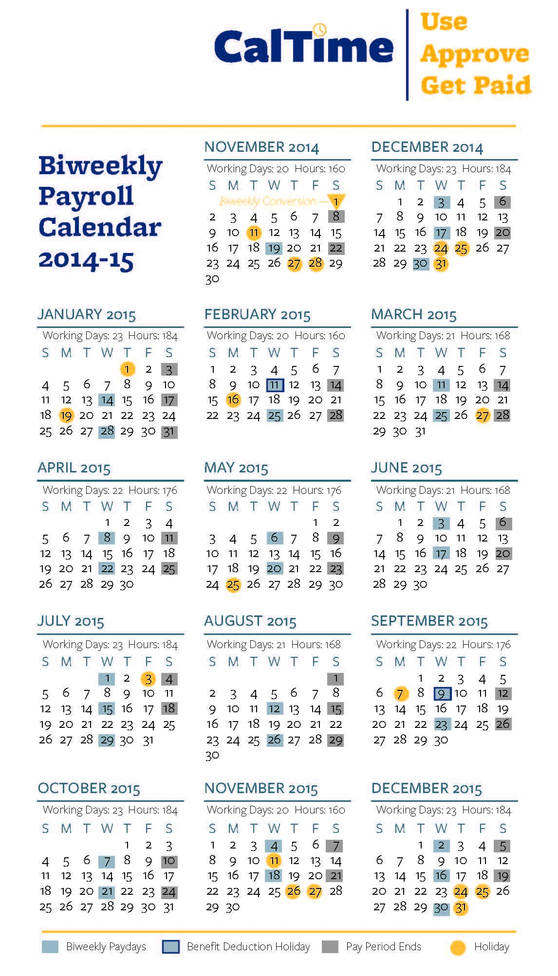 Download This Calendar To Printgtgt. Ucsf Biweekly Payroll Calendar ...