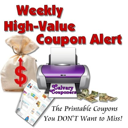 High Value Printable Coupons Alert