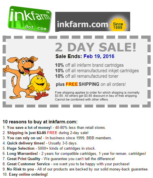 Ink farm coupon code