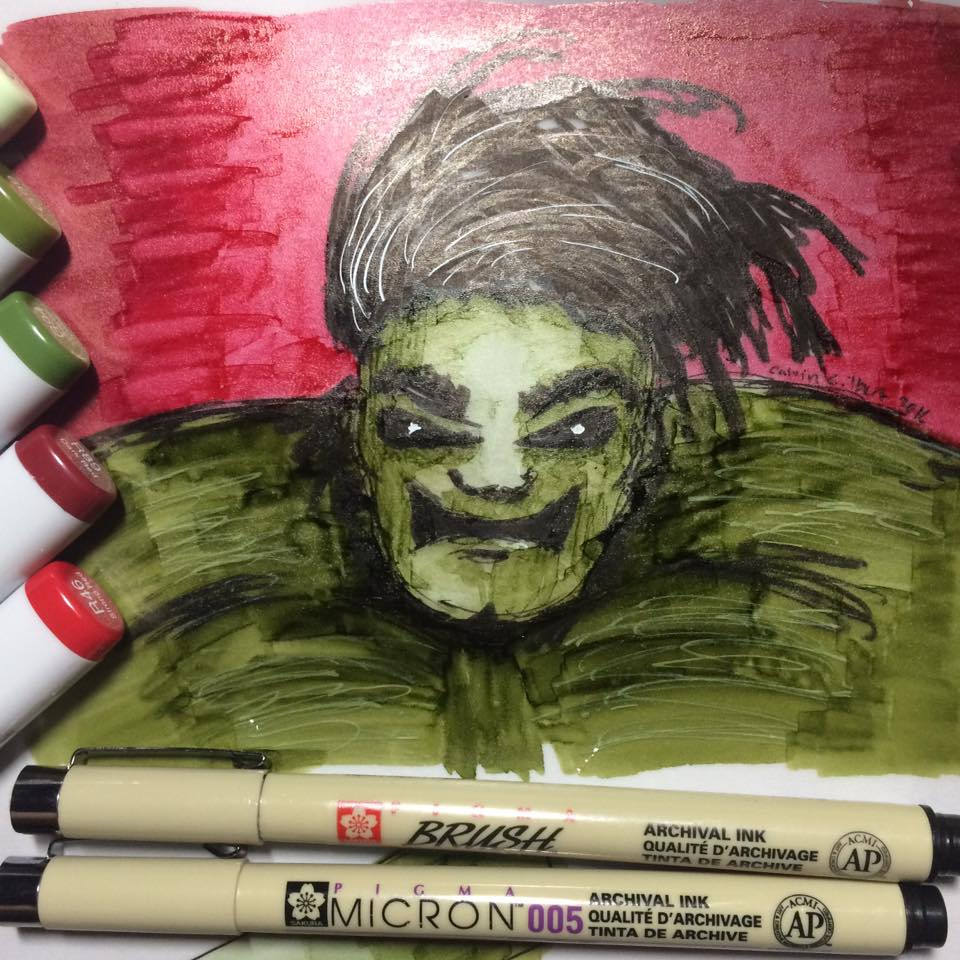 Incredible Hulk Copic Marker