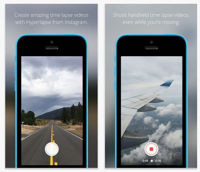 Aplicaciones iOS Hyperlapse Instagram iOS