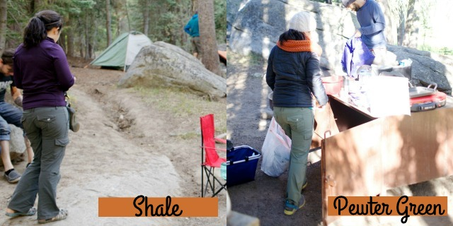 The REI Aldervale Roll-Up Pants come in Shale and Pewter Green - Review on Campfire Chic