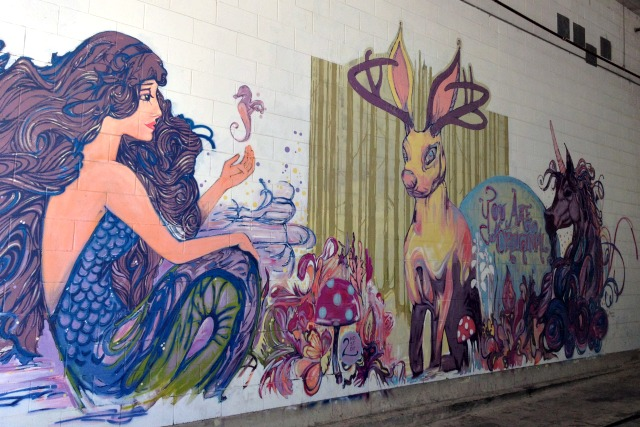 Mystical Mural in Downtown Austin - Campfire Chic