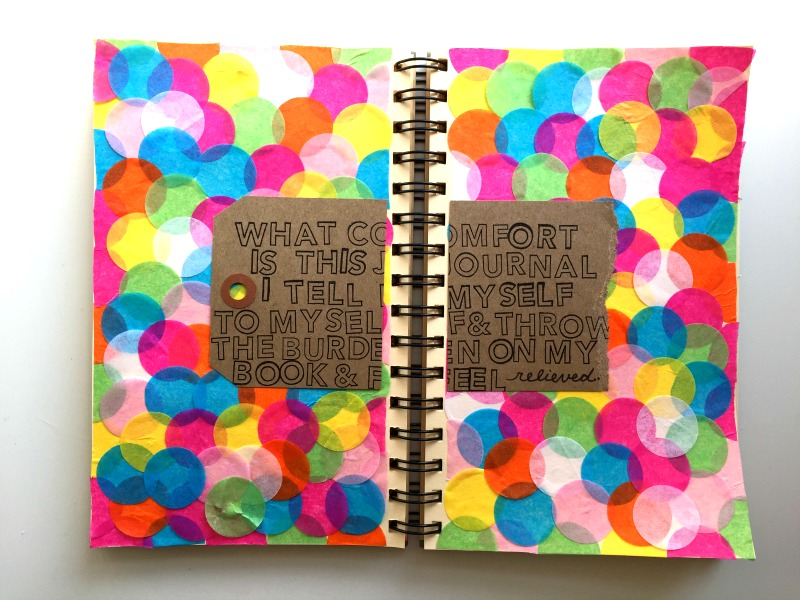 Art Journaling with Messy Lists Creative Challenge - Campfire Chic