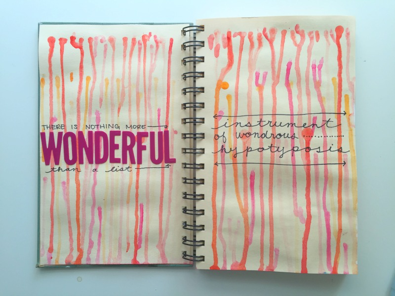Messy Lists 2016 - Art Journal Collaboration with Get Messy Art Journal and 30 Days of Lists - Campfire Chic