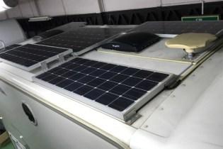 ソーラーパネルがいっぱい。
