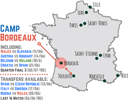 Camp bordeaux for france euro 2016 campingninja for Location bordeaux