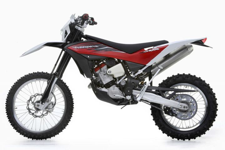 Forget those big-bore BMW-powered Husqvarnas; it seems the new owner wants to return to dirt-oriented machines like the TE449.