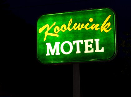 Motels are cheap in the US, and sometimes necessary when it rains, but more money for lodgings = less money for gas = less time on the road - a grim equation, for sure.