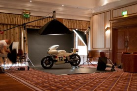 Want to build a replica John Player Norton? You start by carefully photographing the original at a museum.