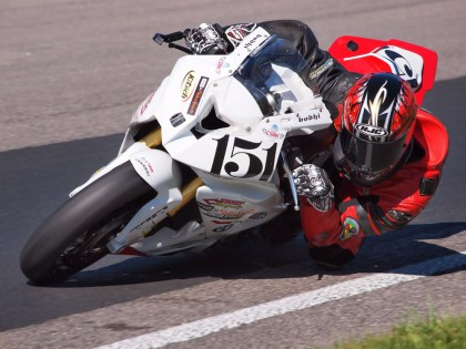 Bodi Edhie took his first pro superbike win in CSBK action Saturday. Photo: Rob MacLennan