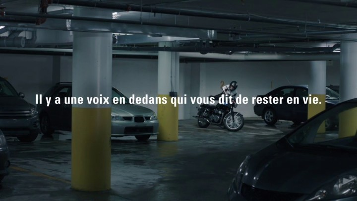 Quebec's rider safety ads lay it on thick