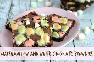 marshmallow and white chocolate brownies