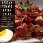 Creamy Bacon Tomato Salad (Low-Carb)