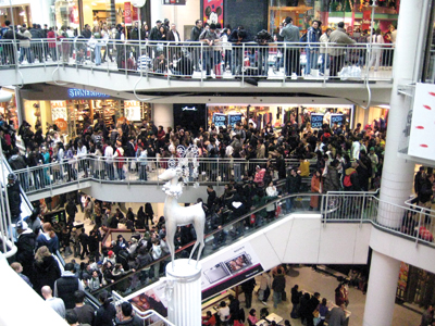 Boxing day at the Eaton Centre