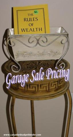 Garage Sale Pricing