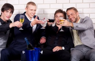 men-partying