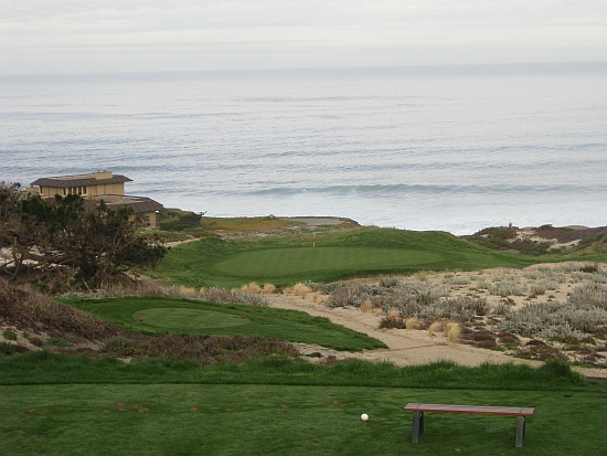 The breathtaking third at Spyglass Hill, part of a great opening stretch of golf