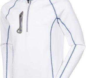 Sunice's Olie Superlite pullover in white/royal