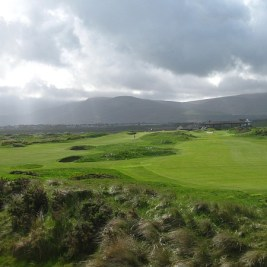The 9th and 18th holes at Waterville