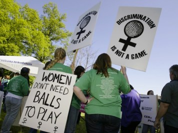 Pro Martha Burk protestors