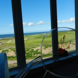 Time to hit the course: The view from my room at Cabot Links, Inverness, NS.